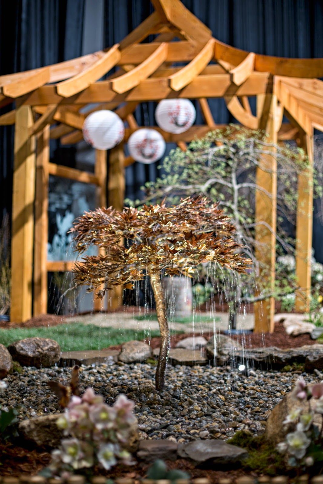 Check Out This Japanese Maple Copper Fountain