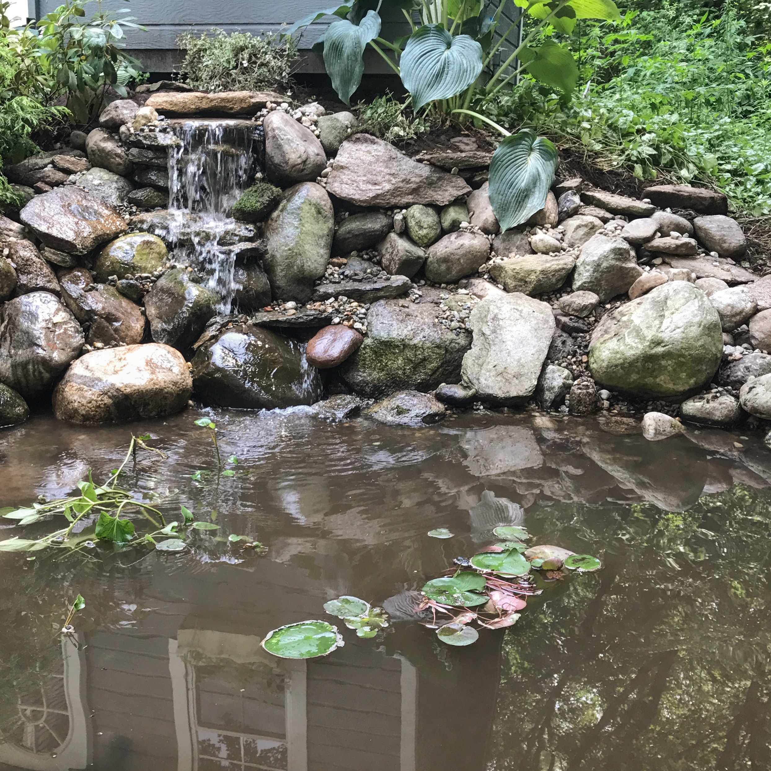 Waterfall Rebuild in Glastonbury