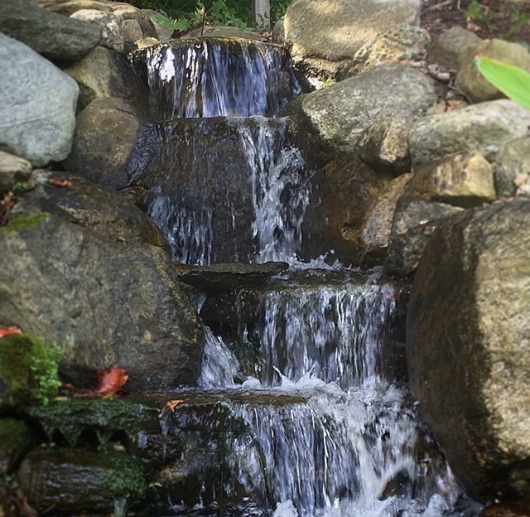 Front Waterfall at Aqua Scapes of CT in Portland
