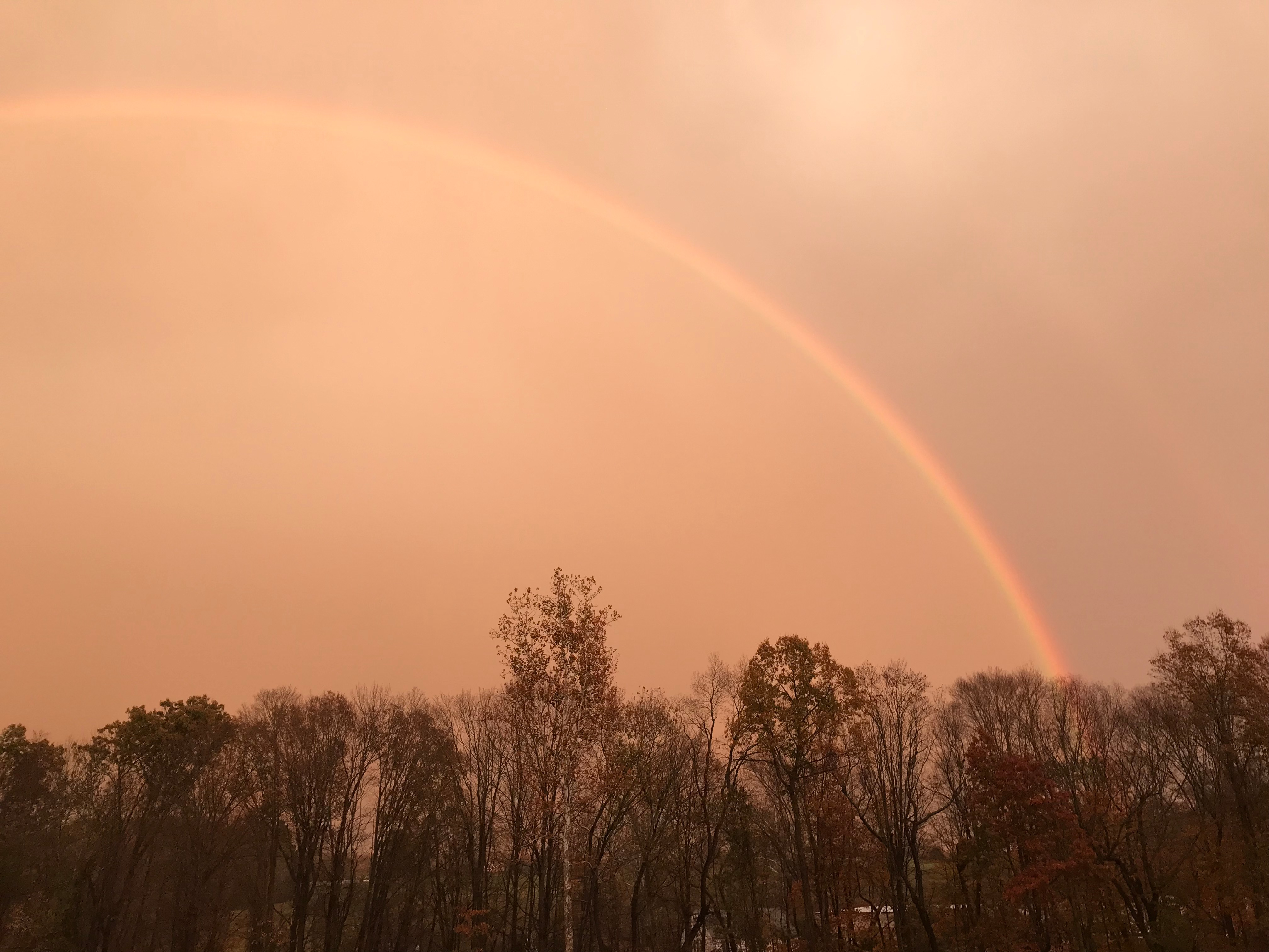 Rainbow Over Our Farm in Portland, CT