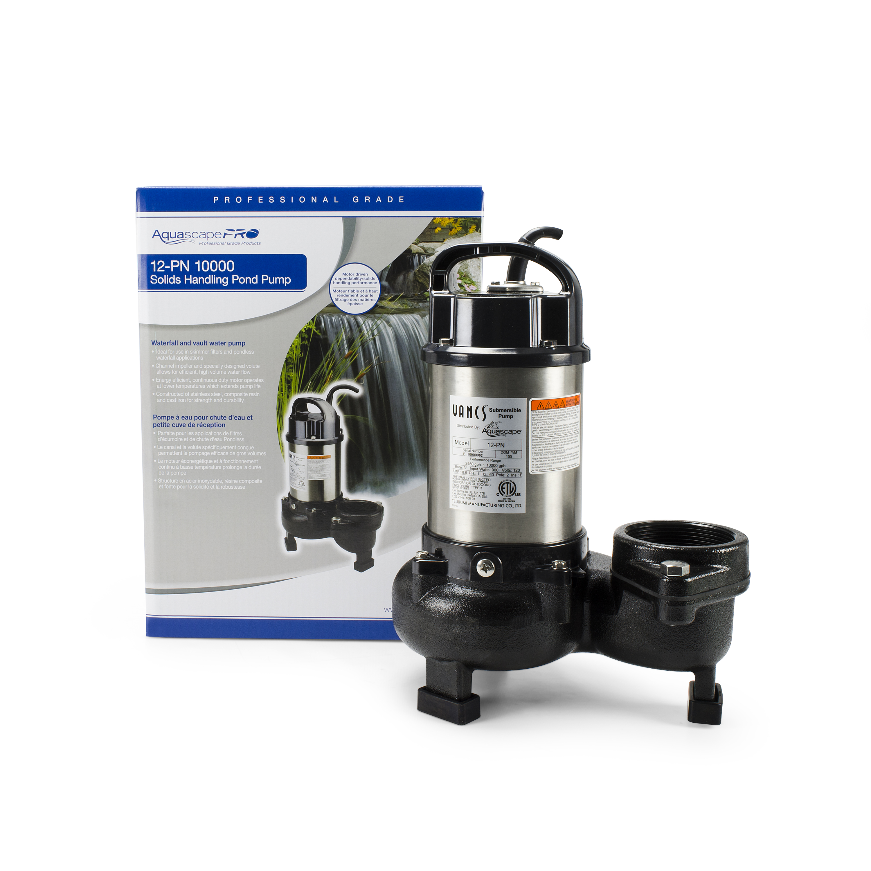 12-PN 10000 Solids-Handling Pond Pump