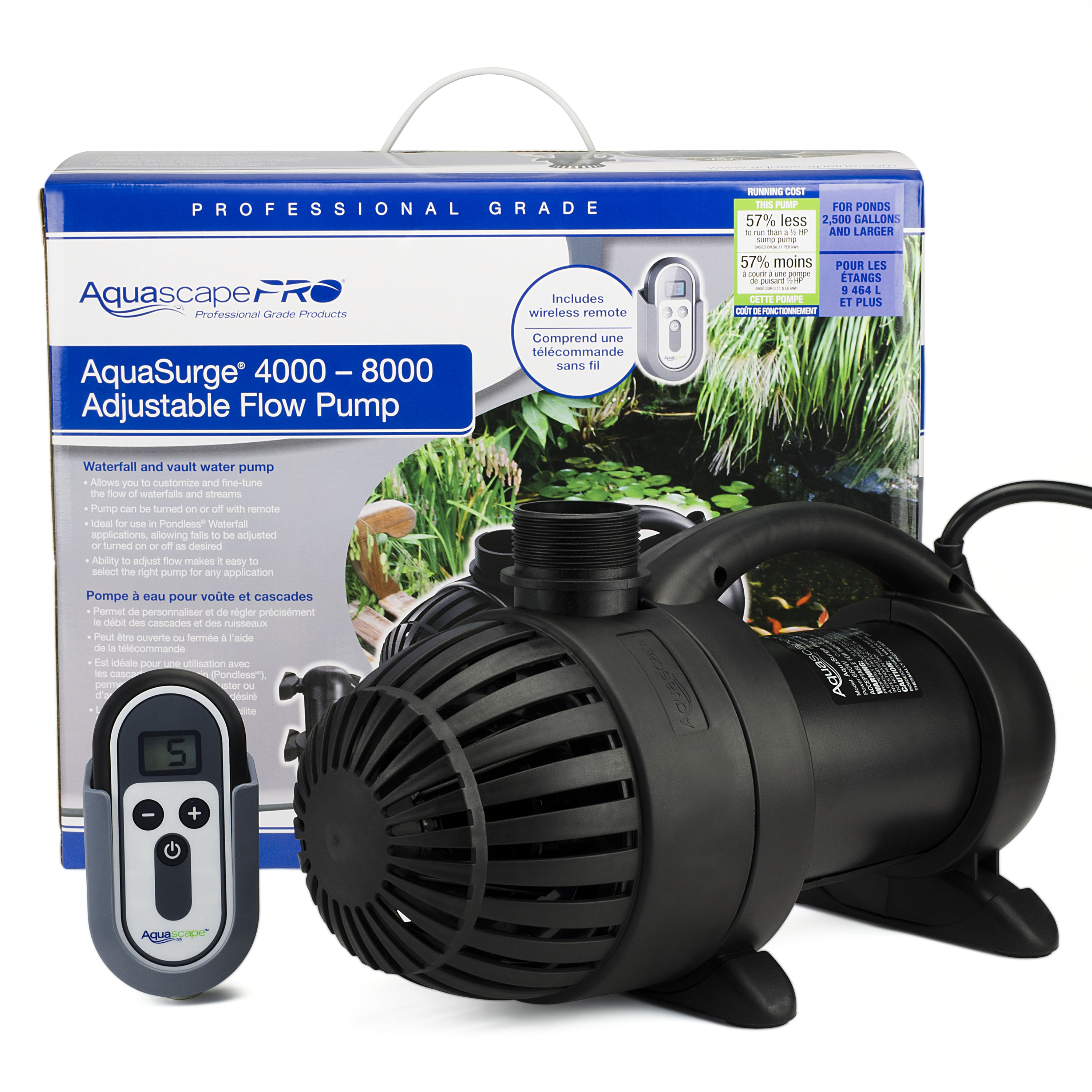 AquaSurge 4000-8000 Adjustable Flow Pond Pump