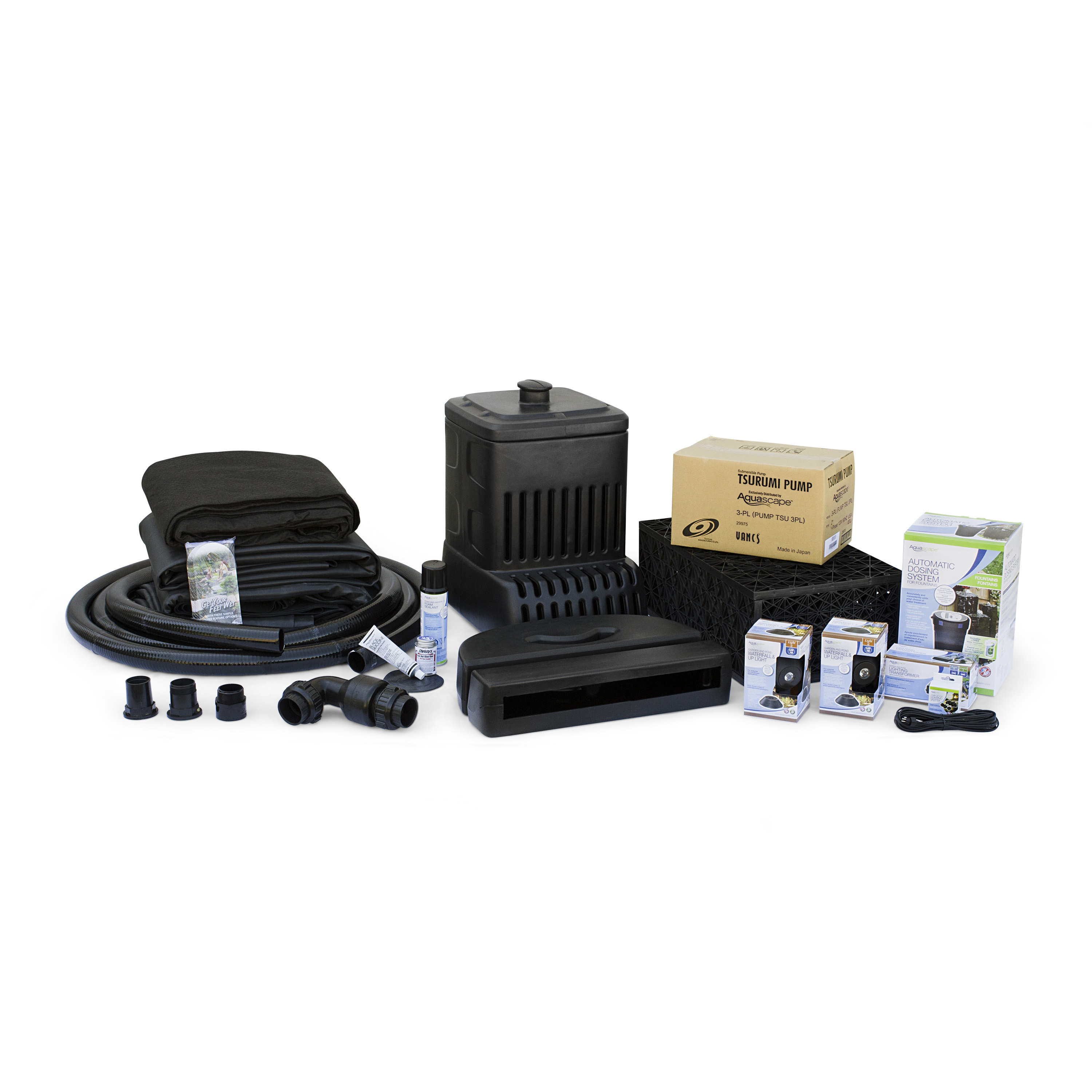 Medium Pondless Waterfall Kit 16' Stream with 3-PL 3000 Pond Pump
