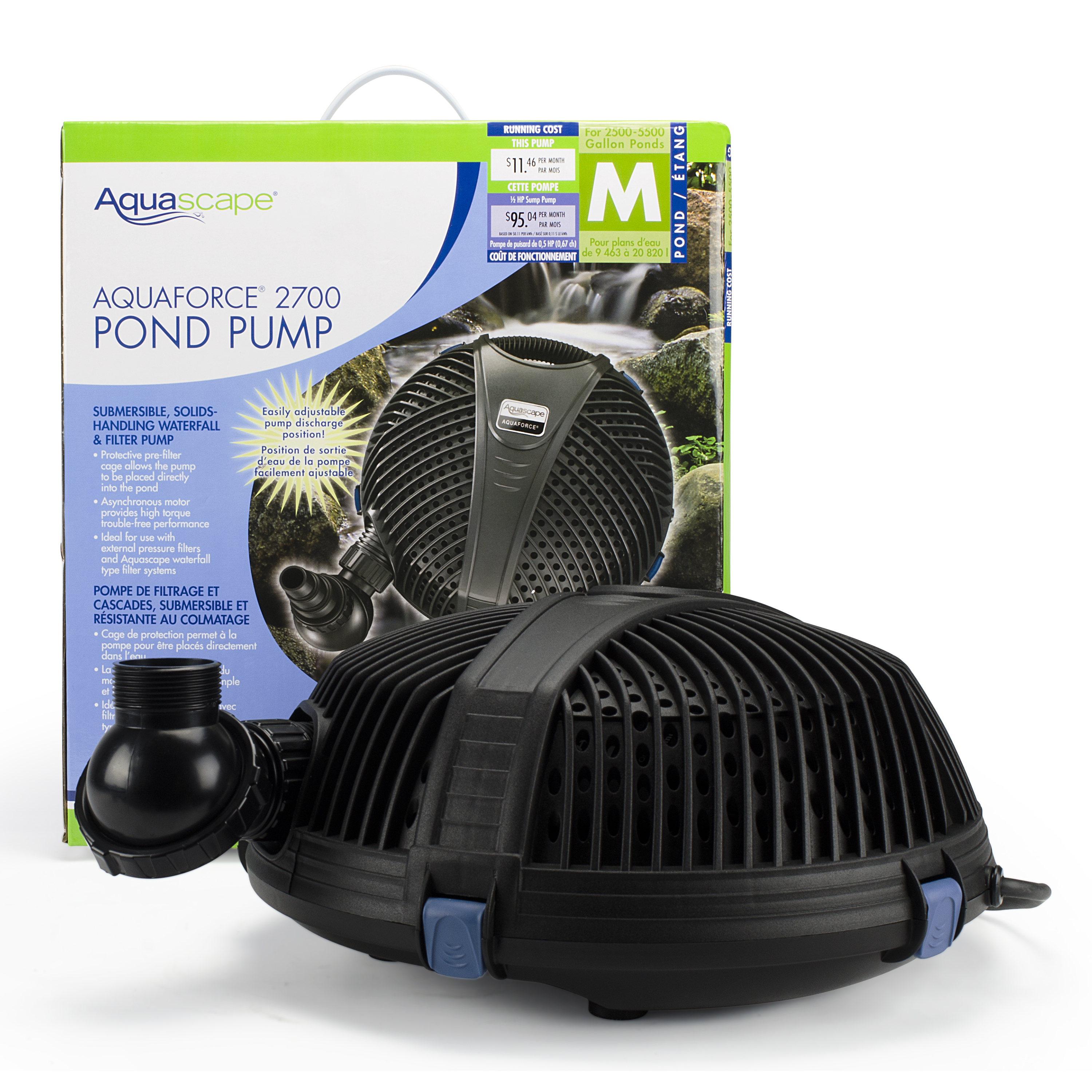 AquaForce 2700 Solids-Handling Pond Pump