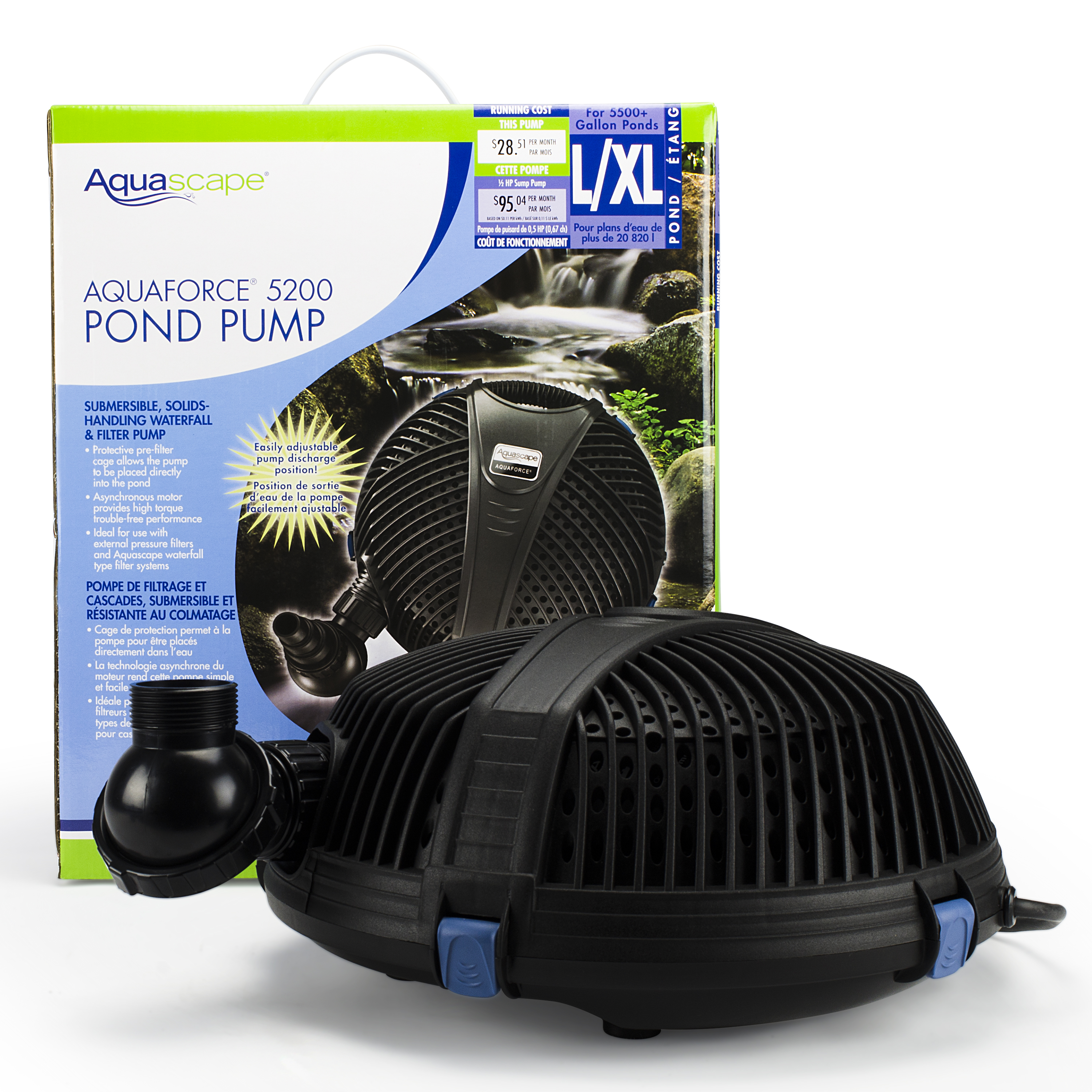 AquaForce 5200 Solids-Handling Pond Pump