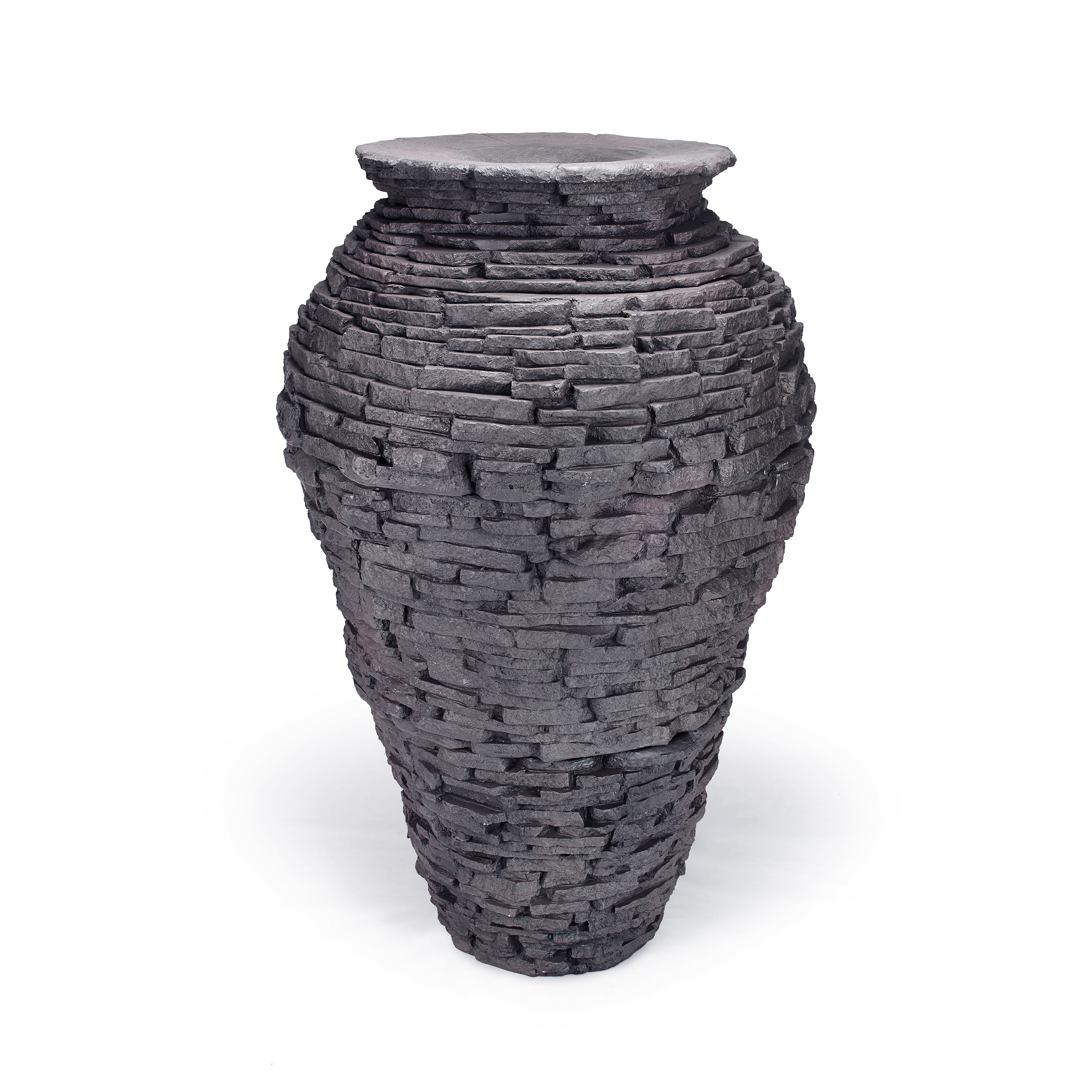 Large Stacked Slate Urn